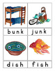 Picture Word Flash Cards - grades 1-2 - Back to Back - Color & BW