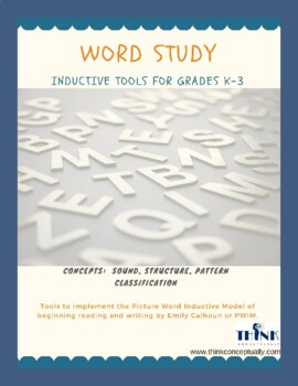 Picture Word Inductive Model Tools - Perfect for language learners