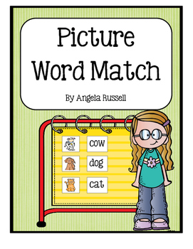 Picture Word Match ~ Farm