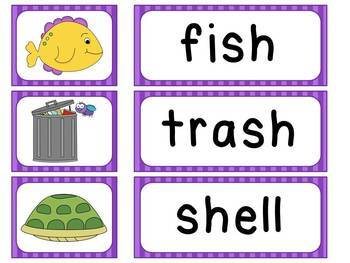Picture and Word Match Reading Centers for the Year (35 phonics sounds centers)