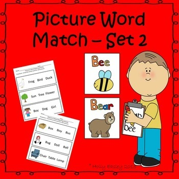 Picture Word Match for Special Education, Autism or Early
