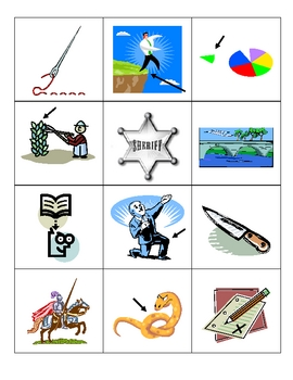Picture Word Match for wr, kn, all, dge, and tch