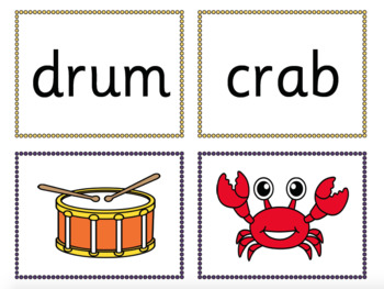 Picture Word Matching 4 letter/sound Words