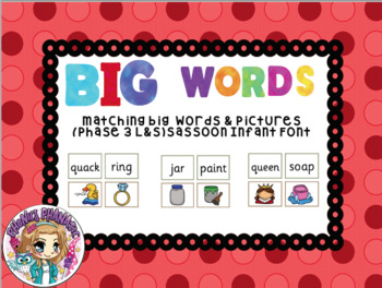 Picture Word Matching BIG Words