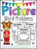 Picture Word Problems Printable Worksheets - Addition & Subtraction Kindergarten