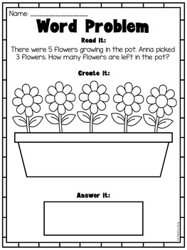 picture word problems printable worksheets addition subtraction kindergarten. Black Bedroom Furniture Sets. Home Design Ideas