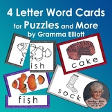Picture Word Puzzles Sampler for 4 letter words