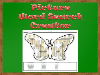 Picture Word Search Creator -- Butterfly