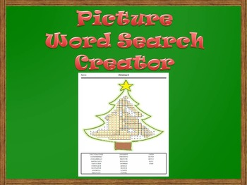 Picture Word Search Creator -- Christmas Tree