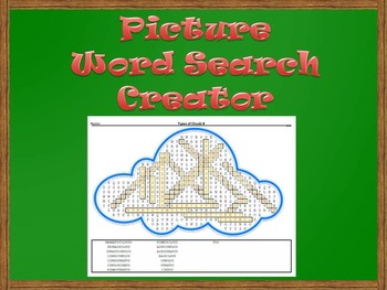 Picture Word Search Creator -- Cloud
