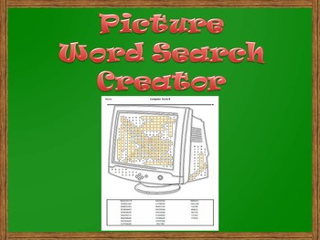 Picture Word Search Creator -- Computer