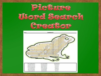 Picture Word Search Creator - Frog