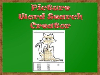 Picture Word Search Creator -- Halloween Cat