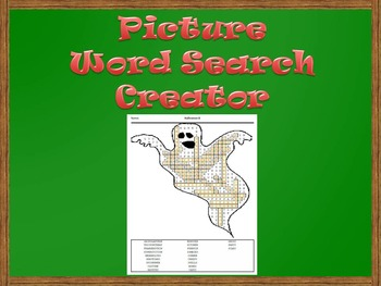 Picture Word Search Creator -- Halloween Ghost