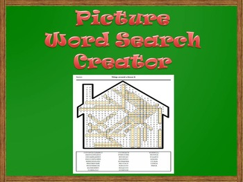 Picture Word Search Creator -- House