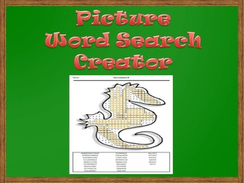 Picture Word Search Creator -- Sea Horse