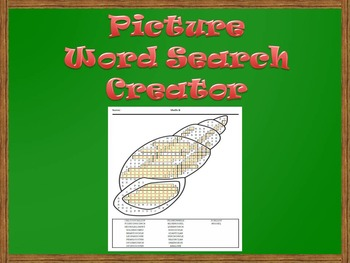 Picture Word Search Creator -- Shells