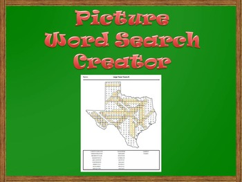 Picture Word Search Creator -- Texas Map