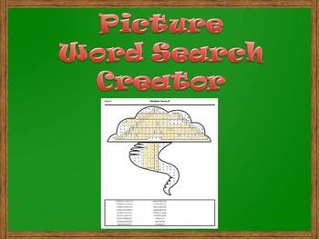 Picture Word Search Creator -- Tornado