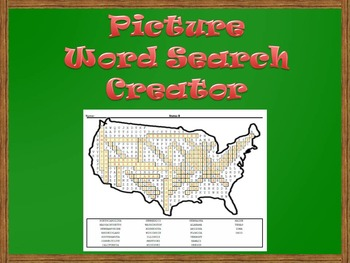 Picture Word Search Creator -- USA Map