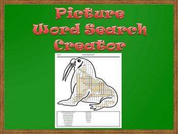 Picture Word Search Creator -- Walrus