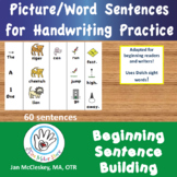 Handwriting: Picture Word Sentences for Special Needs Writ