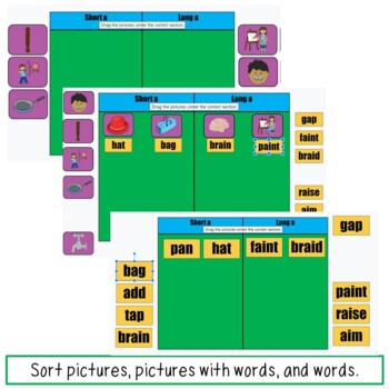Picture Word Sorts and Writing Pages Bundle