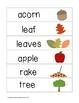Picture Word Strips {Autumn & Halloween Words}