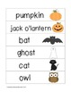 Picture Word Strips {Autumn & Halloween Words}
