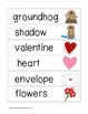 Picture Word Strips {February Words}