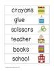 Picture Word Strips {School Words}