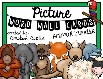 Picture Word Wall Cards - Animal Bundle