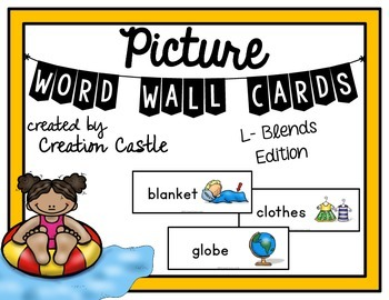 Picture Word Wall Cards - L-Blends
