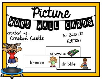Picture Word Wall Cards - R-Blends