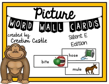 Picture Word Wall Cards - Silent E