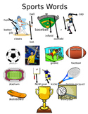 Picture Word Wall- Sports Words