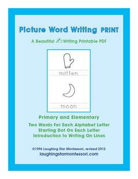 Picture Word Writing Print