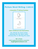 Picture Word Writing - Cursive