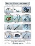 Picture-Words Unscramble Activity Book
