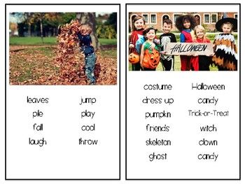 Picture Writing Cards Fall Themed