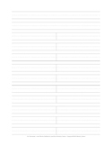 Handwriting Paper for Spelling Words - large