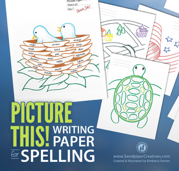 Picture Writing Paper for Spelling Tests