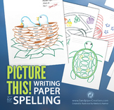 Picture This! Writing Paper for Spelling Tests (20 sheets)