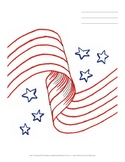 Patriotic Picture Writing Paper for Spelling Tests