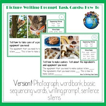 How To Picture Writing Prompt Task Cards