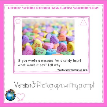 Picture Writing Prompt Task Cards: Valentine's Day