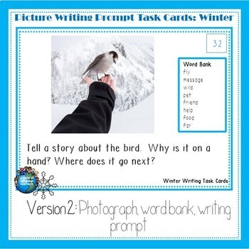 Picture Writing Prompt Task Cards: Winter