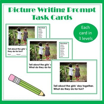 Picture Writing Prompt  Task Cards