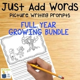 Picture Writing Prompts Bundle | NO PREP Writing | Back to