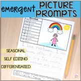 Picture Writing Prompts - DIFFERENTIATED Prompts with Self Editing